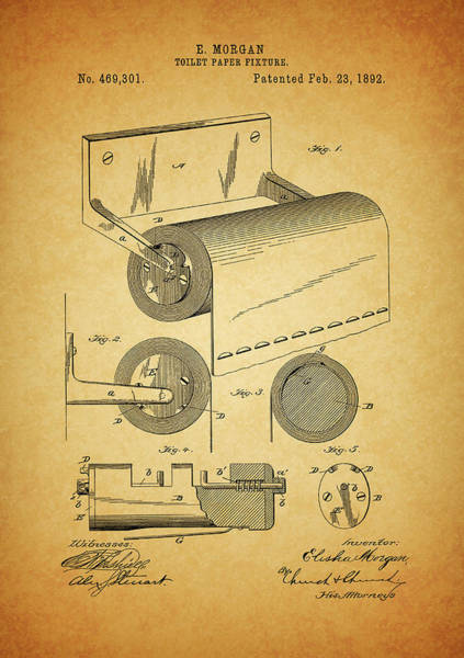 Photograph - 1892 Toilet Paper Patent by Dan Sproul