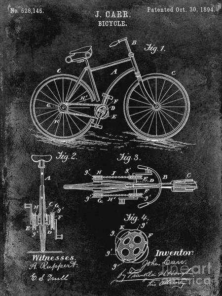 Wall Art - Photograph - 1894 Bicycle Patent Back by Jon Neidert