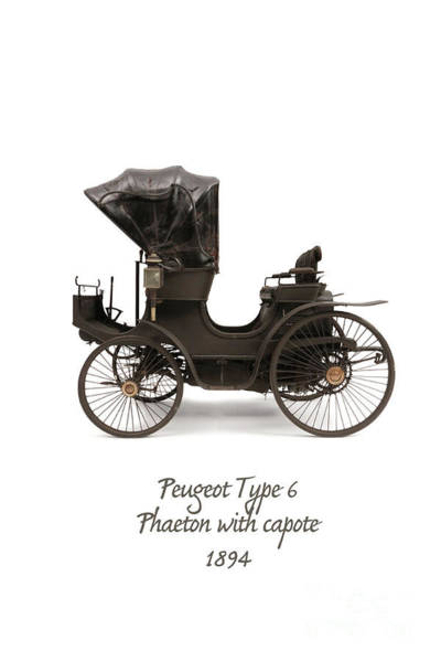Compound Mixed Media - 1894 Peugeot Type 6 by Patricia Hofmeester