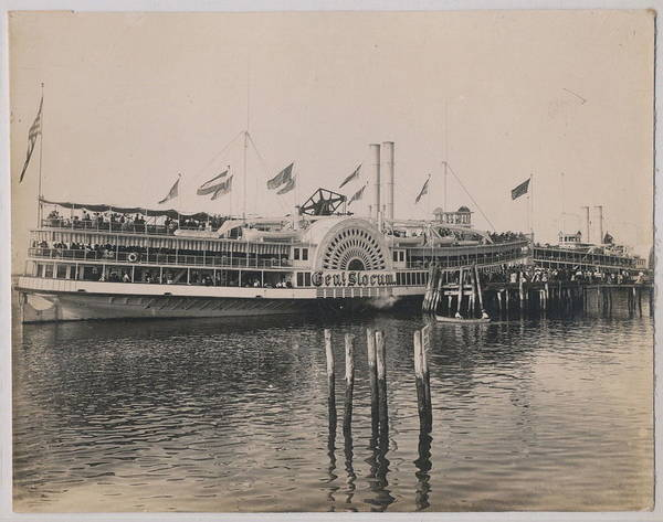 Wall Art - Painting - 1899 Ps General Slocum Fire Disaster Ship by Celestial Images