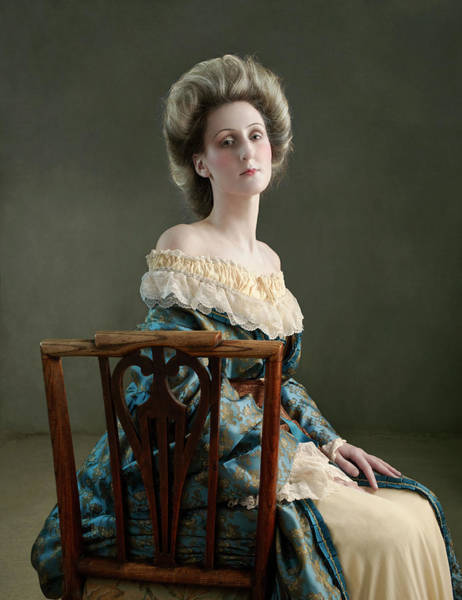 Gray Hair Photograph - 18th Century Lady Sitting On Chair by Zena Holloway