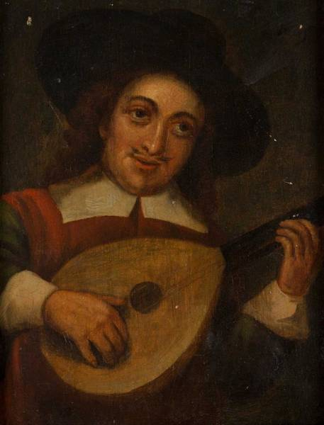 Wall Art - Painting - 18th Century, Musician by Celestial Images