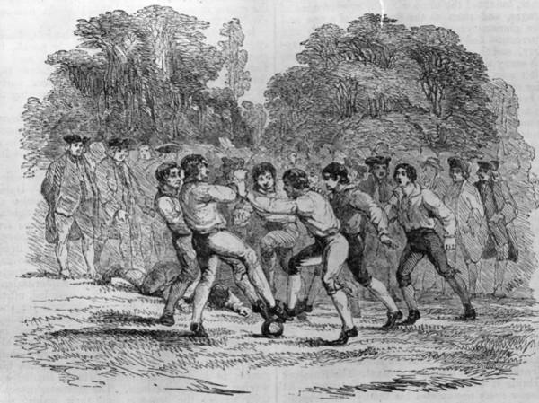 Sport Digital Art - 18th Century Soccer by Hulton Archive