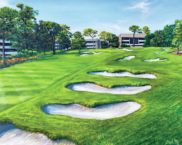 Painting - 18th Hole At The Copperhead Course by Steph Moraca