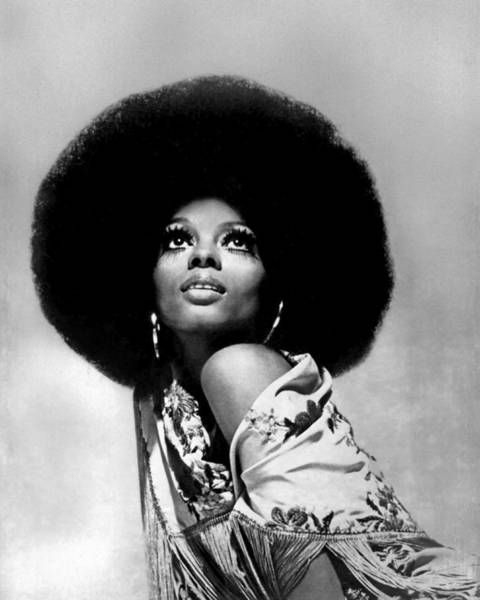 1970 Photograph - Diana Ross Portrait Session by Harry Langdon