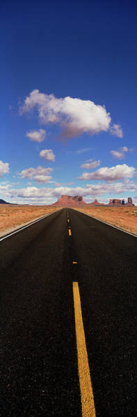 Vertical Line Wall Art - Photograph - Road Passing Through A Landscape by Panoramic Images