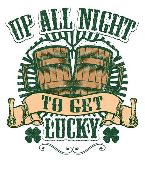 Wall Art - Digital Art - St Patricks Day Party Shirt Shamrock Beer Gift Idea Light by Nikita Goel