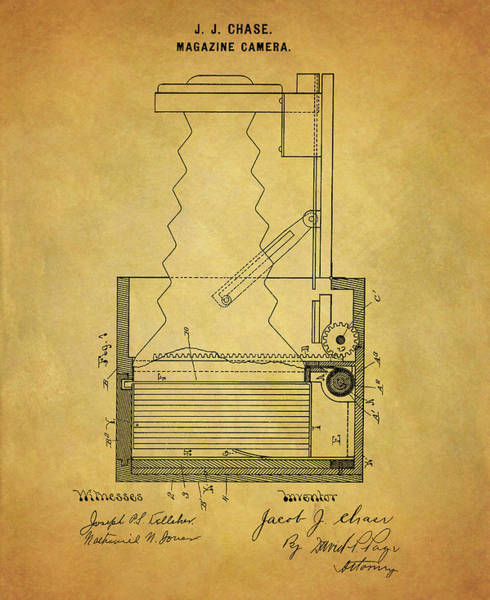 Drawing - 1900 Camera Patent by Dan Sproul
