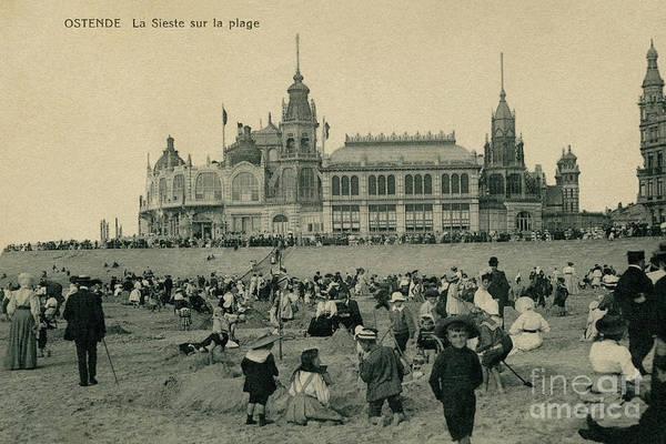 Photograph - 1900 Ostend Siesta On The Beach  by Aapshop