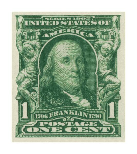 Collectibles Wall Art - Digital Art - 1902 Franklin Stamp by Greg Joens