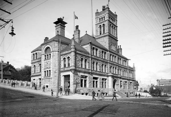 Wall Art - Painting - 1902 Post Office   Custom House Duluth  Minnesota by Celestial Images