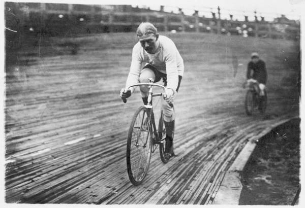 Cycling Helmet Painting - 1906 Photo  Bicycle Race by Celestial Images
