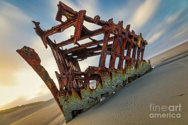 Photograph - 1906 Wreck Of The Peter Iredale by Doug Sturgess