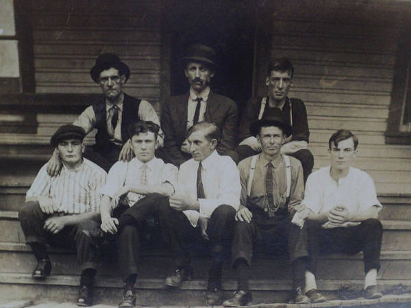 Wall Art - Painting - 1907 Family Reunion Of 8 Men Kentucky by Celestial Images