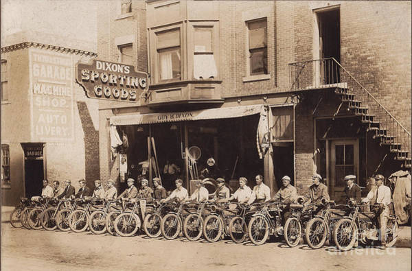 Knucklehead Wall Art - Photograph - 1910 Motorcycle Club by Jon Neidert