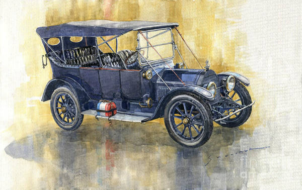 Wall Art - Painting - 1913 Cadillac Four 30 Touring by Yuriy Shevchuk
