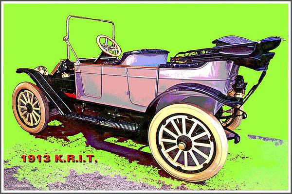 Digital Art - 1913 K.r.i.t. Automobile, National Automobile Museum by A Gurmankin