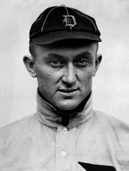 Photograph - 1913 Portrait Photo Of Detroit Tigers Player Ty Cobb by Doc Braham