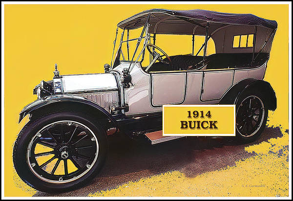 Digital Art - 1914 Buick Automobile, National Automobile Museum, Reno, Nevada by A Gurmankin