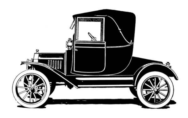 Wall Art - Digital Art - 1915 Ford Coupelet Min by David King