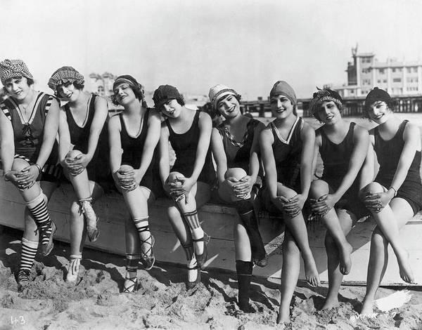Photograph - 1920s Bathing Beauties by Bettmann