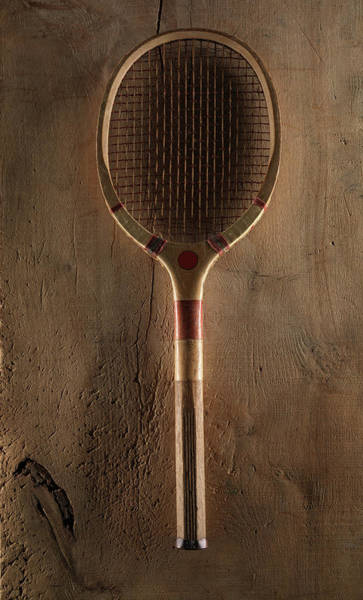 The Past Photograph - 1920s Tennis Racket by Tony Hutchings