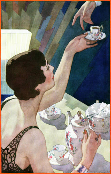 Flapper Photograph - 1920s Woman Serving Beverage by Graphicaartis
