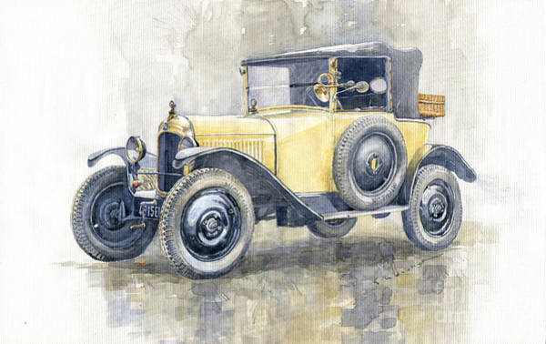 Wall Art - Painting - 1925 Citroen 5cv by Yuriy Shevchuk