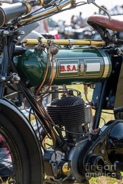 Photograph - 1925 Bsa B25 Motorcycle by Tim Gainey
