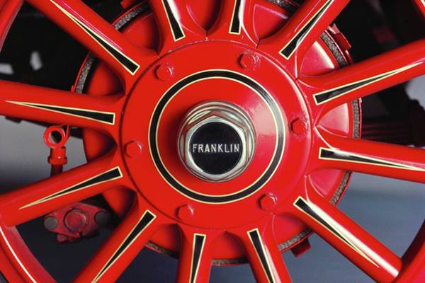 Sport Car Photograph - 1925 Franklin Sport Runabout Wheel by Car Culture