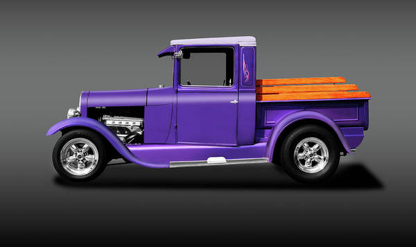 Wall Art - Photograph - 1929 Ford Model A Pickup Truck  -  29fordmodelapickupgray196518 by Frank J Benz