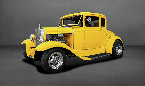 Wall Art - Photograph - 1930 Ford 5 Window Coupe  -  1930fordfivewincpedblgray140420 by Frank J Benz