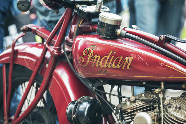 Photograph - 1930 Indian 101 Scout Motorcycle Detail  by Tim Gainey