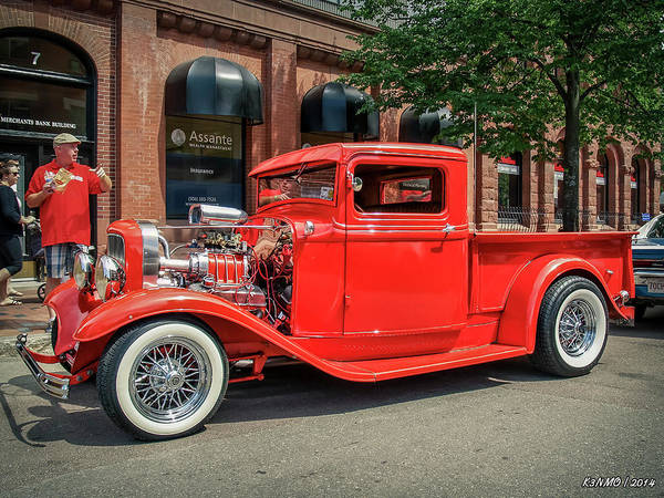 Photograph - 1930s Ford Hot Rod Pickup  by Ken Morris