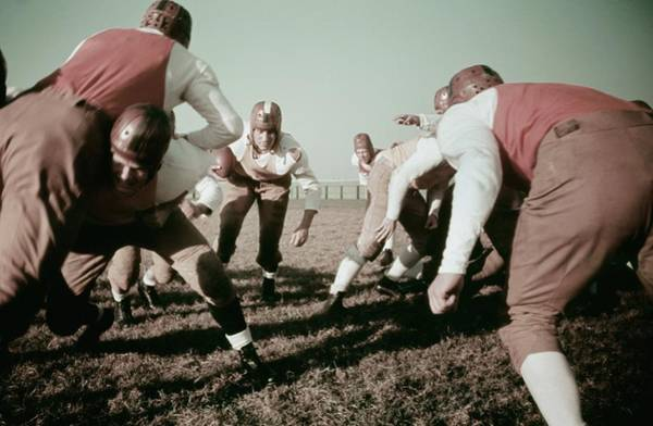 Photograph - 1930s High School Football by Michael Ochs Archives