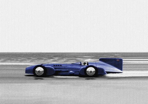 Speed Record Mixed Media - 1931 Campbell Napier Blue Bird by Charlie Ross
