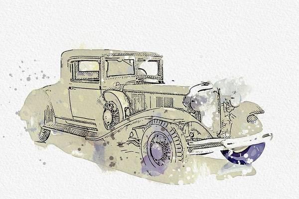 Painting - 1931 Chrysler   Cg Imperial 2 Watercolor By Ahmet Asar by Ahmet Asar