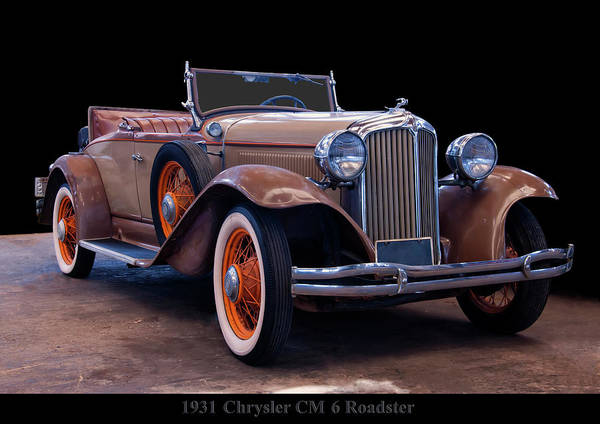 Photograph - 1931 Chrysler Cm6 Roadster by Chris Flees