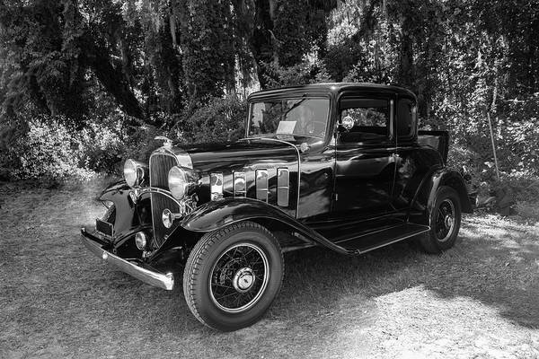 Photograph - 1932 Antique Chevrolet Bw by Carlos Diaz