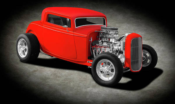 Wall Art - Photograph - 1932 Ford 3 Window Coupe  -  1932ford3windowcoupetexture196738 by Frank J Benz