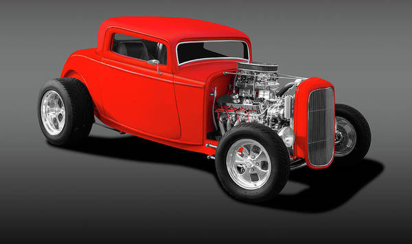 Wall Art - Photograph - 1932 Ford 3 Window Coupe  -  1932fordthreewindowgray196738 by Frank J Benz