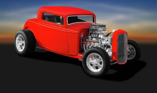 Wall Art - Photograph - 1932 Ford 3 Window Coupe  - 1932fordthreewindowcoupe196738 by Frank J Benz
