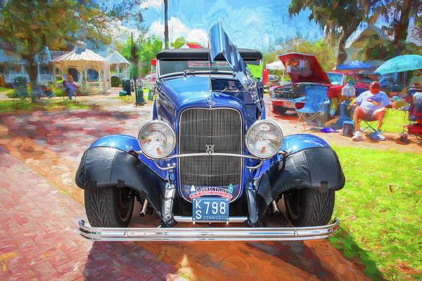 Wall Art - Photograph - 1932 Ford Model 18 V8 Convertible 102 by Rich Franco