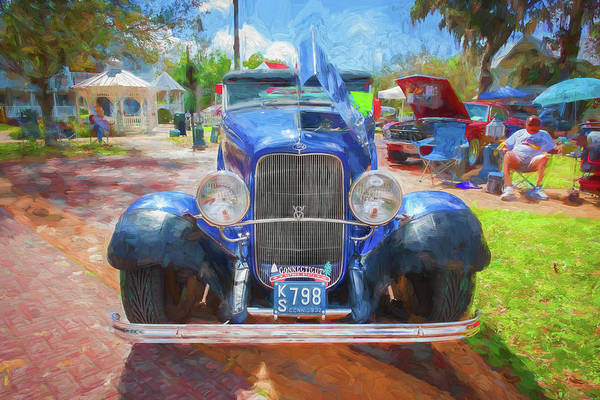 Wall Art - Photograph - 1932 Ford Model 18 V8 Convertible 103 by Rich Franco