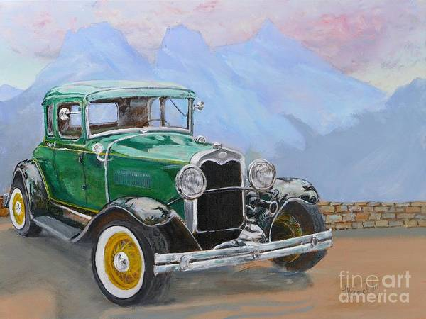 Collector Car Painting - 1932 Ford Model A  by Mohamed Hirji