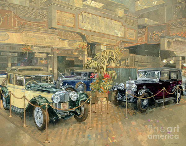Wall Art - Painting - 1932 Olympia Motor Show by Peter Miller