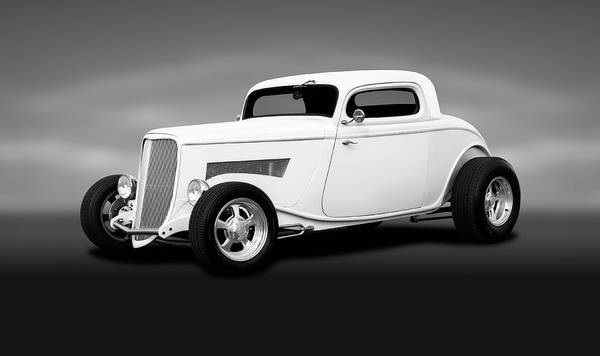 Wall Art - Photograph - 1933 Ford 3 Window Coupe   -  1933ford3windowcoupeblkwhite196599 by Frank J Benz