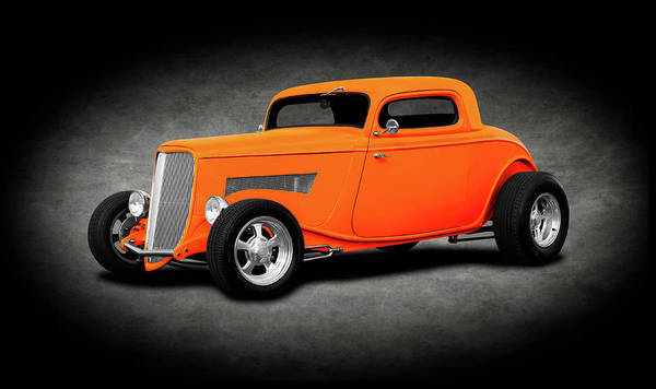 Wall Art - Photograph - 1933 Ford 3 Window Coupe   -  1933fordt3windowcoupetexture196599 by Frank J Benz