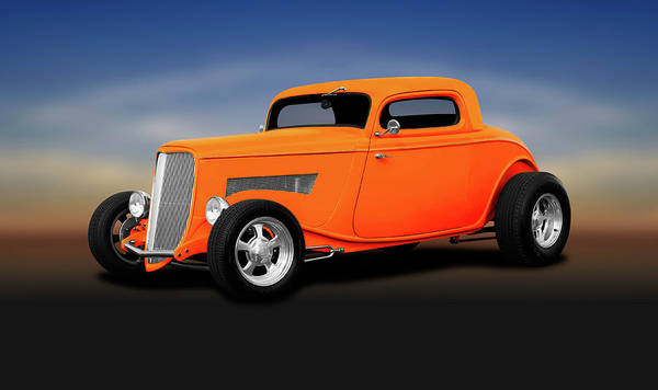 Wall Art - Photograph - 1933 Ford 3 Window Coupe  -  1933fordthreewindowcoupe196599 by Frank J Benz