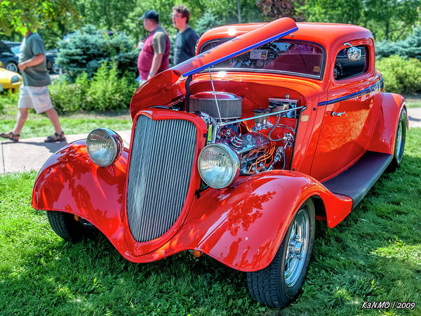 Photograph - 1934 Ford 3 Window Coupe Hot Rod by Ken Morris